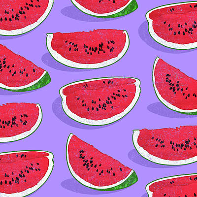Watermelon Print by Evgenia Chuvardina