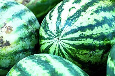 Locally Grown Photograph - Watermelon Love by Teri Virbickis