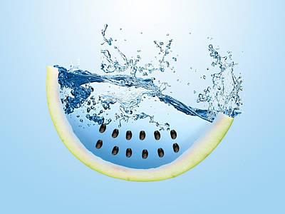 Watermelon Splash Print by Marvin Blaine