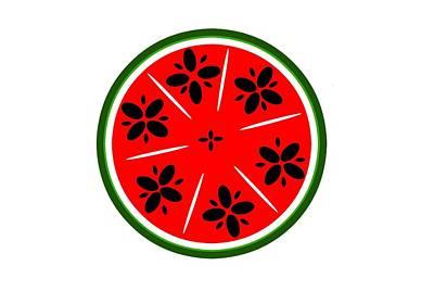 Watermelon Digital Art - Watermelon Summer by Chastity Hoff