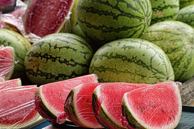 Watermelons At The Market Print by James BO  Insogna