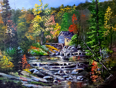 Walmart Painting - Watermill Virginia by Bryan Benson