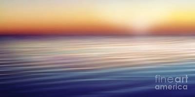 Zen Digital Art - Waterscape Panorama by Lutz Baar