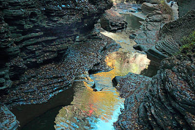 Cavern Photograph - Watkins Glen Gorge  by Jessica Jenney