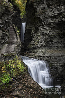Dickson Photograph - Watkins Glen Waterfall  by John Greim