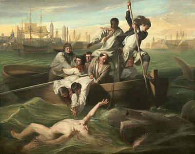 John Singleton Copley Painting - Watson And The Shark by John Singleton Copley