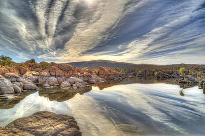 Watson Lake Reflections Print by Donna Kennedy