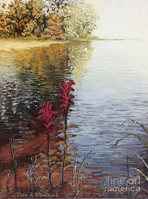 Watts Bar Lake Rockwood Tn Print by Todd A Blanchard