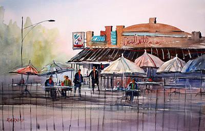 Umbrella Painting - Wautoma Impressions by Ryan Radke