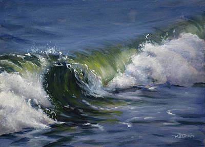 Beach Painting - Wave 76 by Christopher Reid