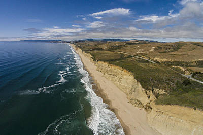 Aerial Photograph - Wave Excavation by David Levy