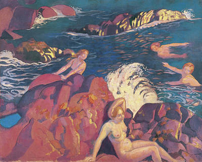 Bath Painting - Wave by Maurice Denis