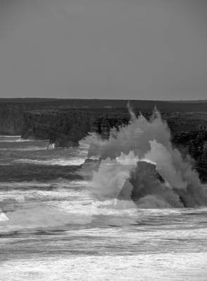 Wave Overlay Of Sagres Wind Storm Print by Cadence Moore