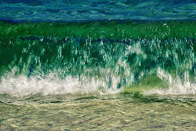 Water Filter Photograph - Wave by Stelios Kleanthous