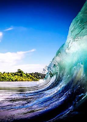 Wave Wall Print by Nicklas Gustafsson