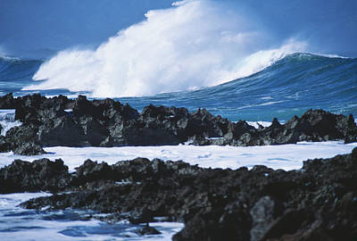 Waves And Rocks Print by Kyle Rothenborg - Printscapes