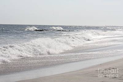 Photograph - Waves Crashing Onto Long Beach by John Telfer