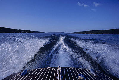Photograph - Waves Left In The Wake Of A Boat by Kenneth Garrett