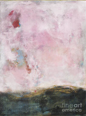 Anahi Decanio Painting - Waves Of Pink Abstract Art by Anahi DeCanio