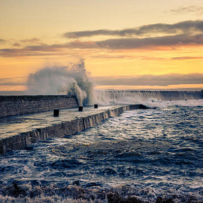 Anstruther Photograph - Waves Triptych II by Michael Mauderer
