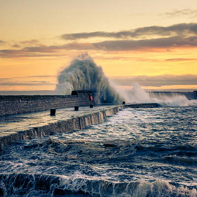 Anstruther Photograph - Waves Triptych IIi by Michael Mauderer