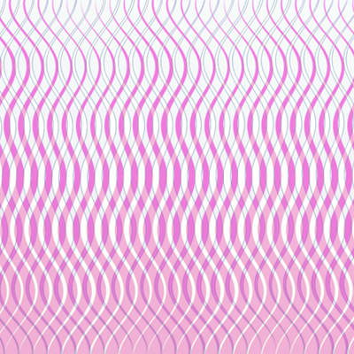 Wavy Stripes Print by Gina Lee Manley