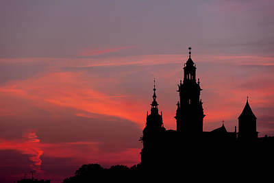 Cracow Photograph - Wawel Castle And Cathedral Silhouette In Krakow by Artur Bogacki