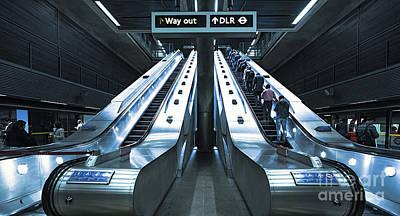 London Tube Mixed Media - Way Out by Svetlana Sewell