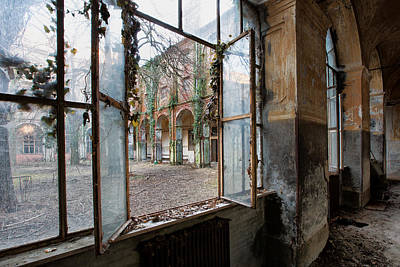 Way Out To The Inside - Urbex Print by Dirk Ercken