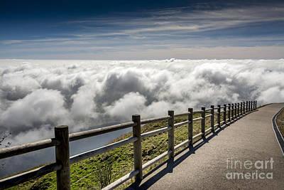 Photograph - Way Through The Clouds. France.  by Bernard Jaubert
