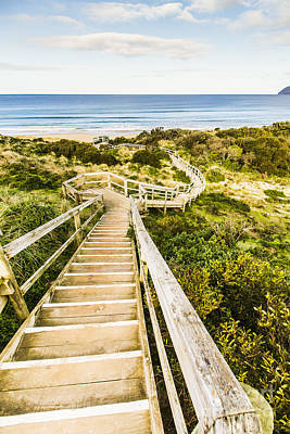 Wooden Platform Photograph - Way To Neck Beach by Jorgo Photography - Wall Art Gallery