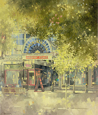 Foliage Painting - Wayfarer's Arcade by Peter Miller
