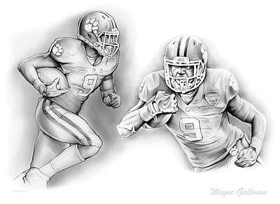 Wayne Gallman 3 Original by Greg Joens