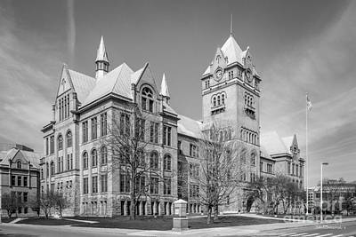 Wayne State University Old Main Print by University Icons