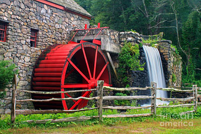 Longfellow S Grist Mill Photograph - Wayside Inn Grist Mill by Jim Beckwith