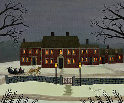Sudbury Painting - Wayside Winter's Eve by RJ Houghton