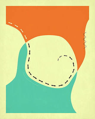 Contemporary Abstract Digital Art - Wayward 1 by Jazzberry Blue