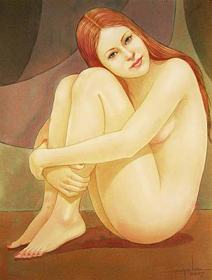 Girls Painting - Wb2007dc003ar Vera Buenos Aires 8.7x11.5 by Alfredo Da Silva