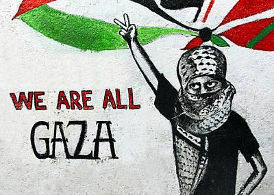 Aida Photograph - We Are All Gaza by Munir Alawi