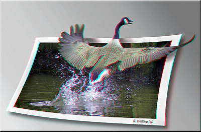 We Have Liftoff - Use Red-cyan 3d Glasses Print by Brian Wallace