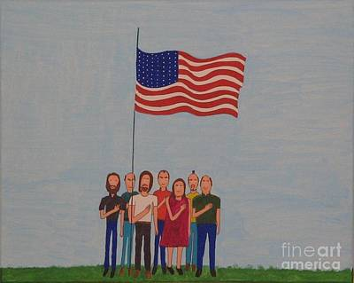 We Pledge Print by Gregory Davis