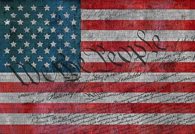 Independence Mixed Media - We The People by Dan Sproul