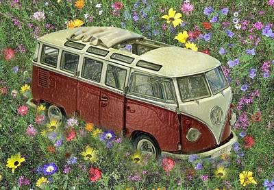 We Were Flower Children 2 Print by Manfred Lutzius