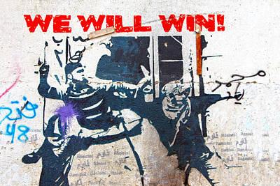 Aida Photograph - We Will Win by Munir Alawi