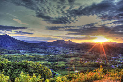 Wears Valley Tennessee Sunset Print by Reid Callaway