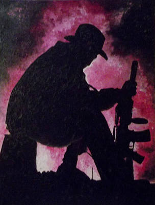 Twin Towers Nyc Painting - Weary Soldier by T Fischler