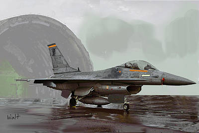 Air Force Digital Art - Weather Day by Walter Chamberlain