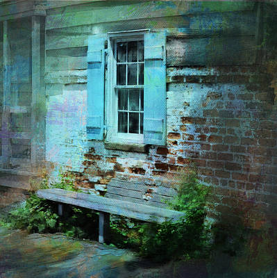 Charming Cottage Digital Art - Weathered Beauty In Savannah's Historic District by Carla Parris