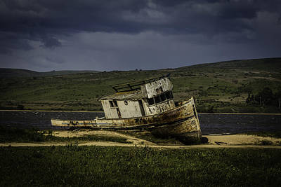 Weathered Fishing Boat Print by Garry Gay