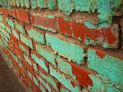 Weathered Painted Wall Print by Edmund Akers